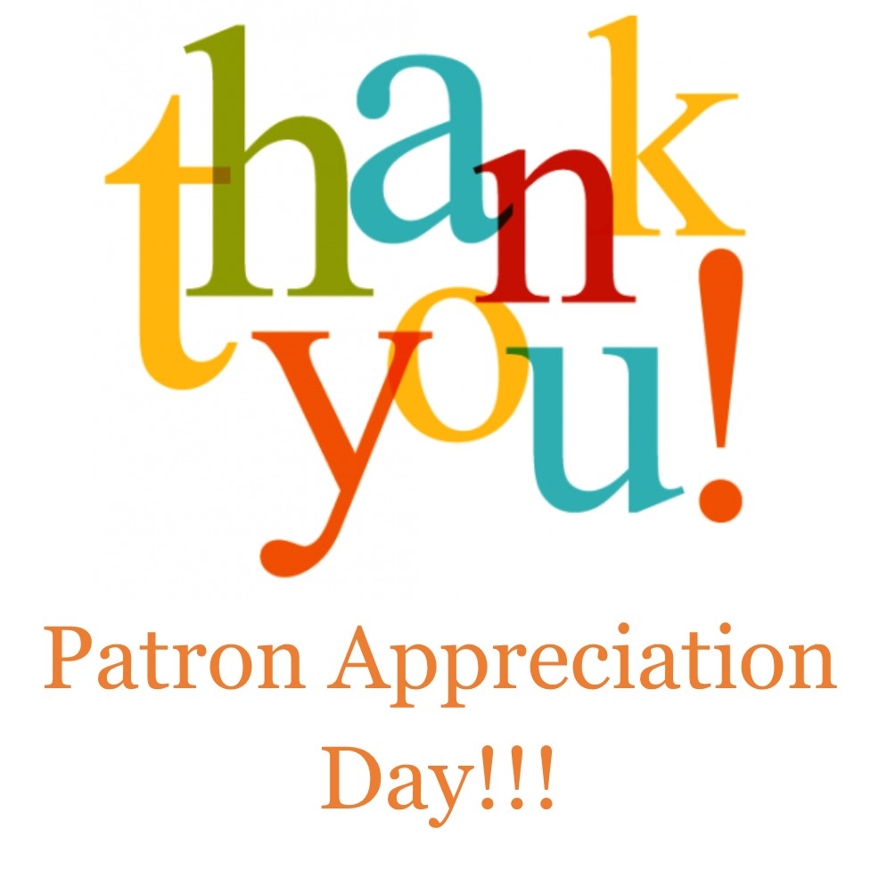 Image result for patron appreciation day